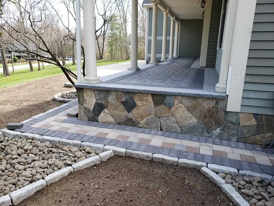 Stone Front Yard and Porch